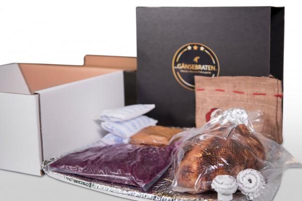 Entenbraten Paket für 4 Personen - komplettes 3 Gang Menü